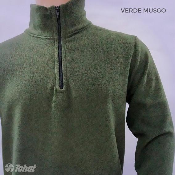 Buzo Micropolar Niño - Medio Cierre -talle 2 Al 14 - Premium