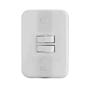 Kit 20 Conjunto 4x2 Interruptor 2tp Emb Branca