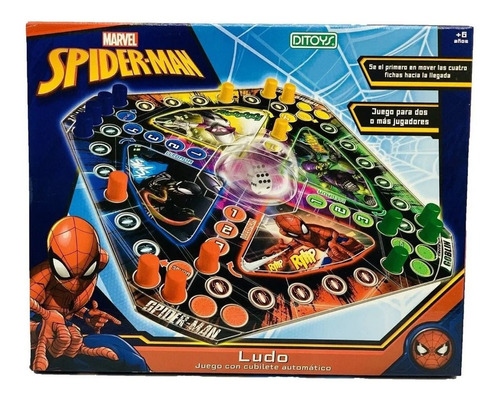 Juego Ludo Ultimate Spiderman Marvel St Disney