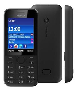 Nokia 208 Asha,1chip,3g,câmera,radio,desbloq,novo,nacional