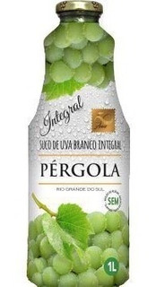 Suco De Uva Branco Pergola 1 Litro Integral Sem Açucar