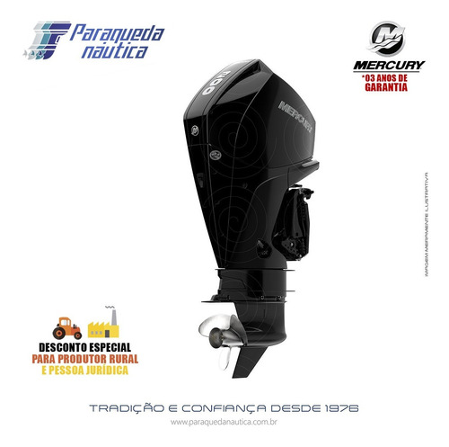 Motor De Popa Mercury 4 Tempos 200hp Xl Efi V6 Dts Preto