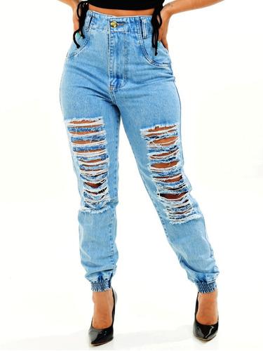 Imagem 1 de 9 de Calça Jeans Feminina Super Destroyed Hot Pant Promoção