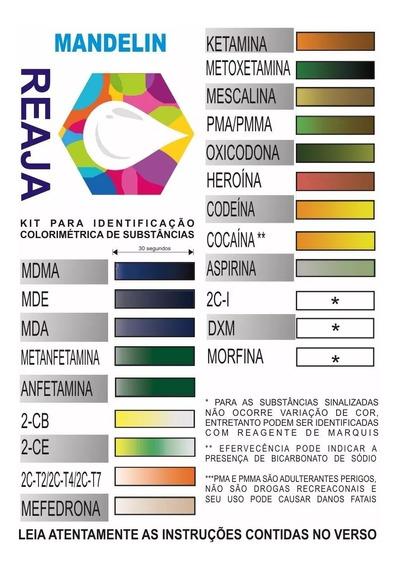 Kit C/ 3 Testes Colorimétricos (marquis+mandelin+mecke) 10ml