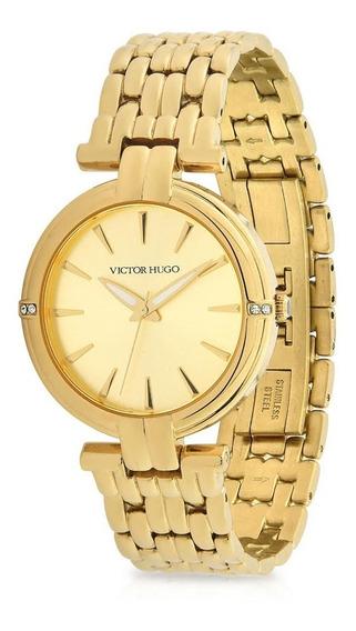 Relógio Victor Hugo Luxo Feminino - Vh10147lsg/06m