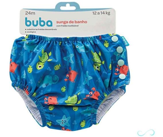 Sunga Bebê Infantil Moda Praia Piscina C/ Fralda Envio 24h