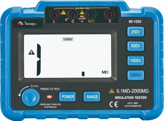 Megômetro Digital Profissional 1000 Volts Minipa Mi-1000 +nf