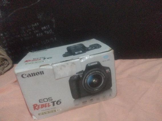 Camera Eos T6 Canon Seminova (leia A Descrição!)