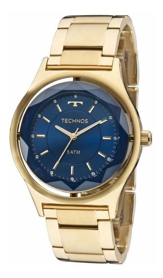 Relógio Technos Feminino Crystal Elegance 2035mic/4a Dourado