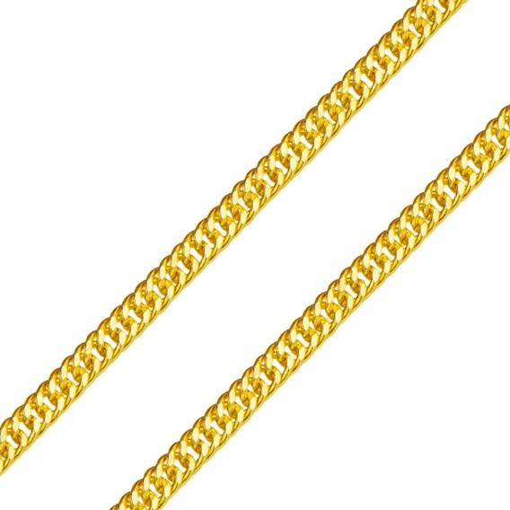 Cordão Corrente Grumet Dupla 27g De Ouro 18k 750 Oco