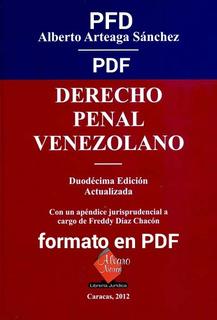 Derecho Penal Venezolano De Alberto Arteaga