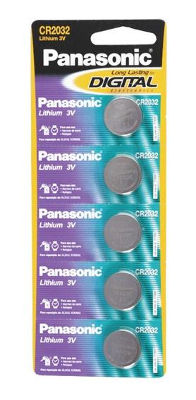 Bateria Lithium Cr2032 Longa Duração 3v C/5 Pilhas Botão