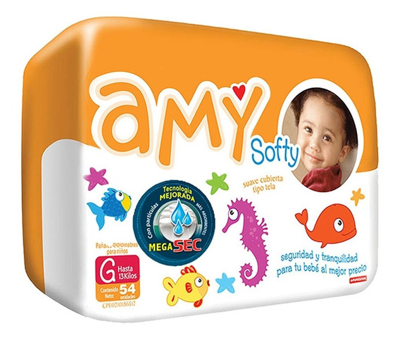 Pañales Desechables Amy Softy Talla G Por Bulto
