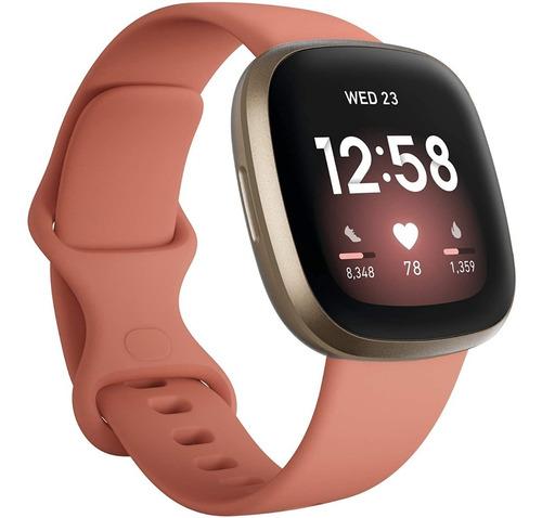 Imagen 1 de 6 de Fitbit Versa 3 Pink Reloj Smartwatch Salud Forma Física Gps