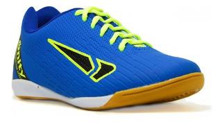 Tênis Onity Infantil Futsal F20 - Royal/limão/preto