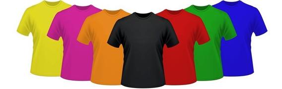 Kit Sortido Camisetas Lisa Poliéster Várias Cores Atacado - Promoção