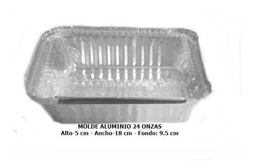 10 Moldes De Aluminio 24 Onzas + Tapa Cristal