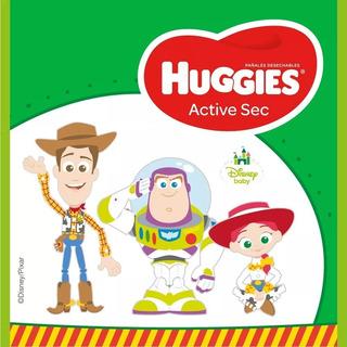 120 Pañales Huggies Active Sec Talla G