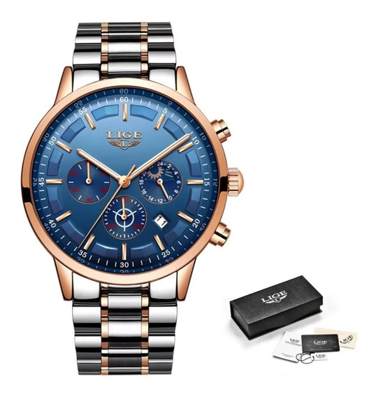 Relógio Masculino Lige Original 30 Metros Modelo 9877