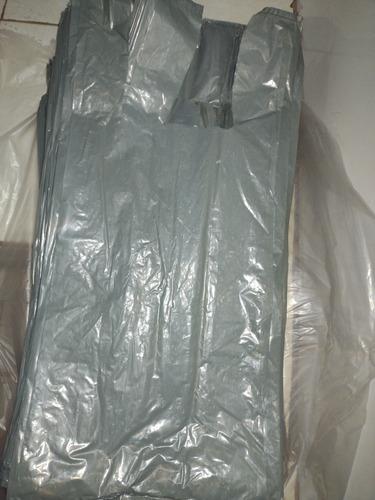 Imagem 1 de 1 de Sacolas Plástica Alça Camiseta Verdes Reforçadas