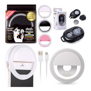 Luz Flash Ring Light Controle Bluetooth Celular Selfie Fotos
