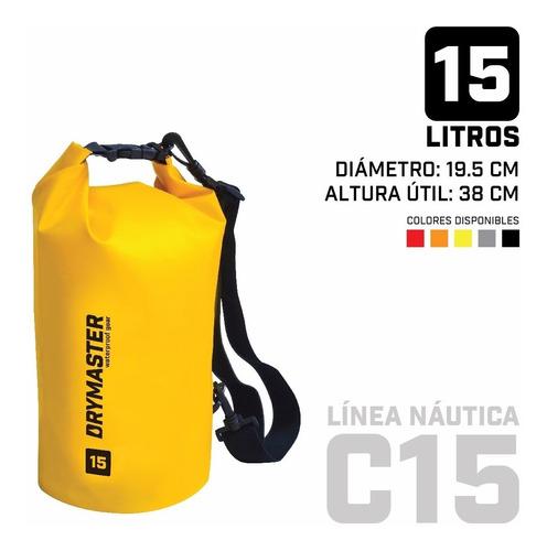 Imagen 1 de 5 de Bolso Estanco Drymaster 15 Litros Con Correa De Transporte