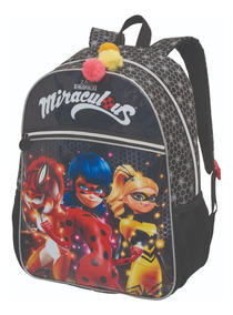 Mochila Miraculous Girls Original Escolar Infantil Pacific