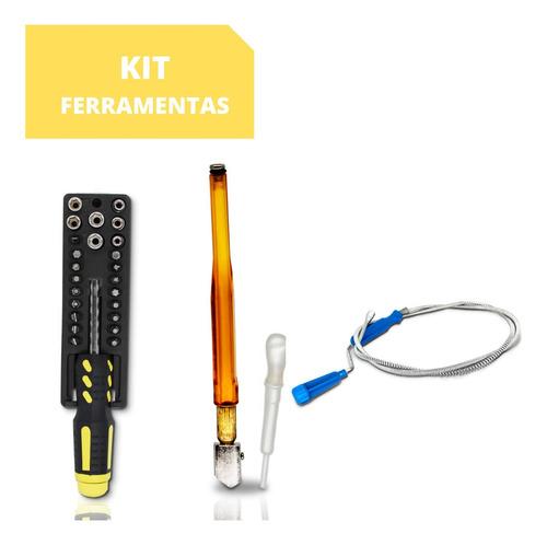 Imagem 1 de 7 de Kit Ferramentas Desentupidor Ralos Cortador Vidro Jg Chaves