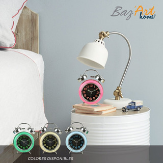 Reloj Despertador Con Campana 15cm X 7cm 2 Colores