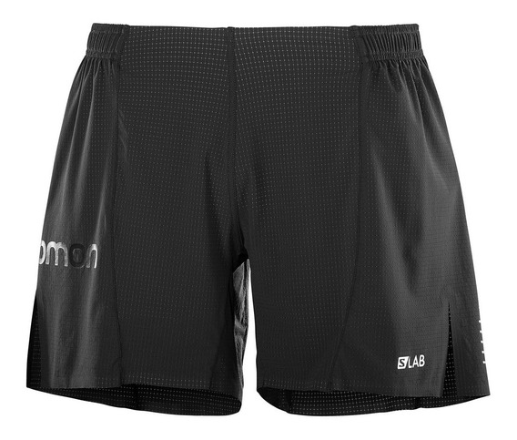 Short Hombre Trail Running Senderismo S/lab Negro Salomon