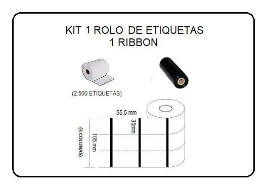 Etiquetas Composição Roupas 35x55m Ribbon Argox Elgin Zebra.