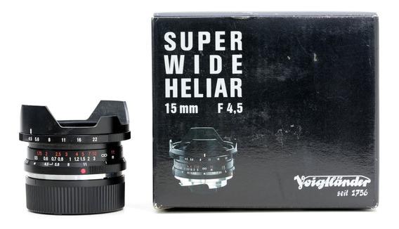 Objetiva Para Leica M 15mm Super Grande Angular Voigtlander
