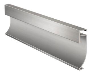 Zocalo Led Atrim Aluminio 60mm Porcelanato Piso Pared 3973