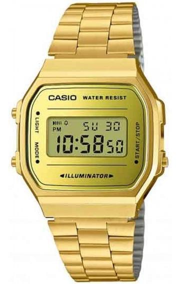 Relógio Vintage Casio A168wegm-9df Dourado