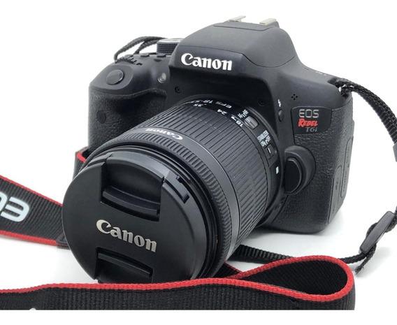 Câmera Canon T6i C/ Lente 18-55 Stm - 1100 Disparos