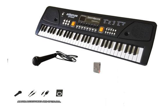 Teclado Piano Infantil Eletrônico Musical - Bigfun Bf-630c