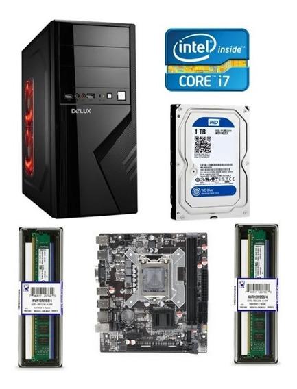 Cpu Computadora Escritorio Intel I7 8gb De Ram 1tb Disco