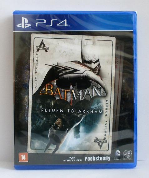 Batman Return To Arkham (mídia Física Leg Pt-br) Ps4 (novo)