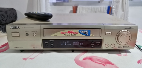 Video Cassete Philips Vr-999 S-vhs Hi-fi Stereo + Controle