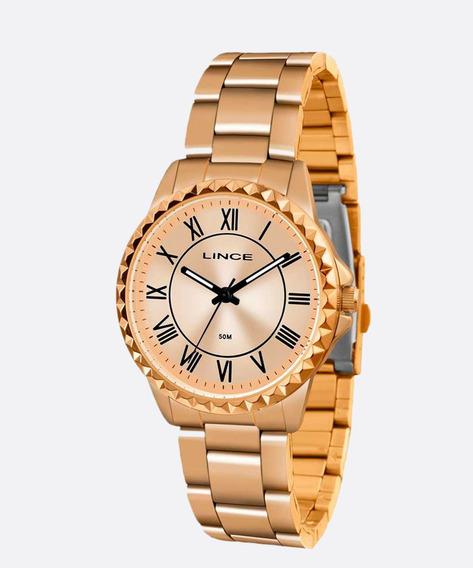 Relógio Lince Feminino Lrr4561l R3rx Rosegold