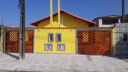 Imagem 1 de 14 de Casa Nova Com  Piscina Em Mongaguá R$ 200 Mil