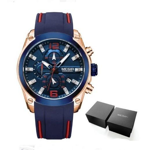 Relógio Megir 2063 Masculino Casual Esportivo / Original