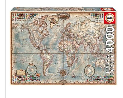 Rompecabezas El Mapa Del Mundo - 4000 Piezas