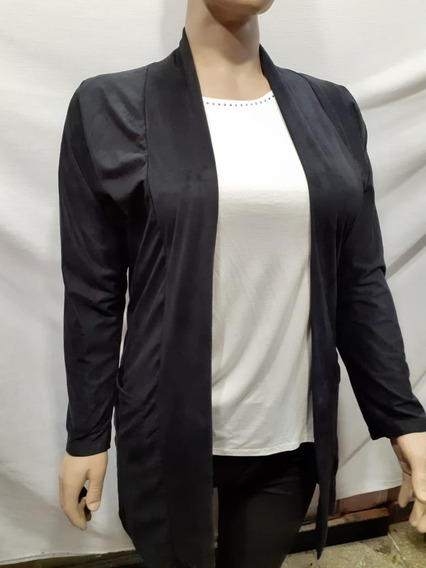 Saco Tela Gamuzada C/bolsillo Para Mujer-talles 6, 8 Y10