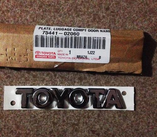 Emblema Trasero Letras Toyota Original Corolla 2003-2008