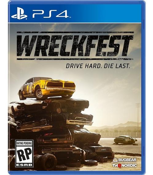 Wreckfest Ps4 Mídia Física Novo Lacrado Original