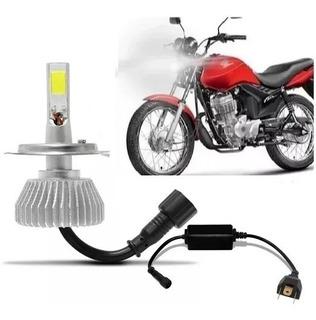 Lampada H4 Super Led Farol Moto Honda Cg 150 Fan E Titan