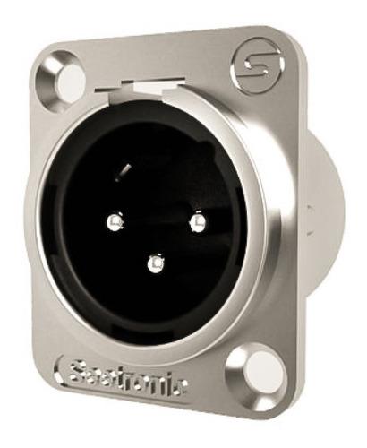Seetronic J3f2c Conector Xlr Macho 3 Contactos Para Chasis