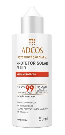 Protetor Solar Fluid Máxima Proteção Fps 99 Adcos 50ml
