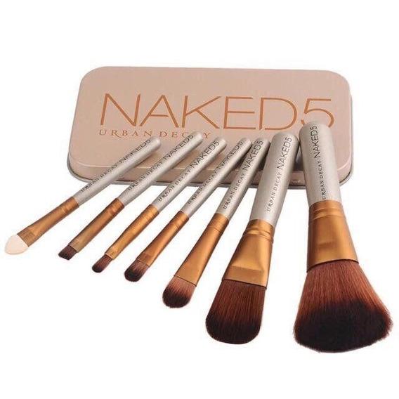 Estuche Set 7 Brochas Y Pinceles Naked Tienda Chacao